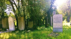 Graves in the old Jewish part of the Central Cemetery.