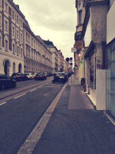 Vienna is full of streets like this one, which I find really cool.
