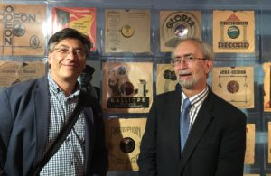 Alan Dein (left, London based collector, and historian, who contributed to the project so much from the first minute), together with David Leigh, a descendant of the Levy's family, whose record shop introduced black Jazz music in Great Britain.